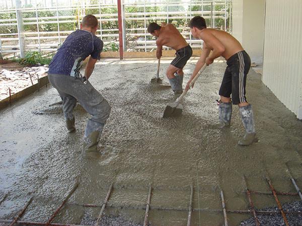 Армирования пола из бетона