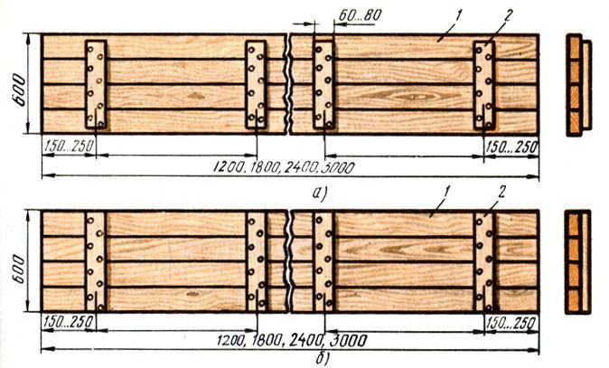 Щиты разборной деревянной опалубки