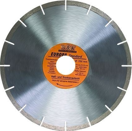 Для того, чтобы резать бетон необходимо правильно подобрать режущий диск.