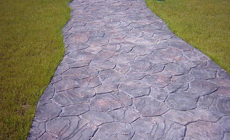 Декоративная бетонная дорожка