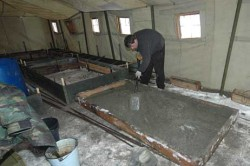 Готовая бетонная смесь в опалубке