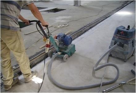 Фрезеровка бетонного пола.