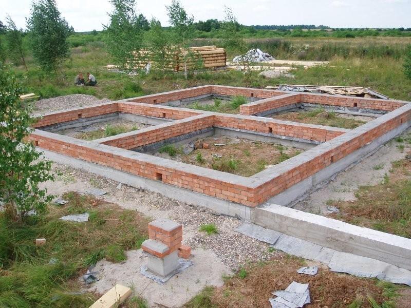 Строительство фундамента своими руками фото