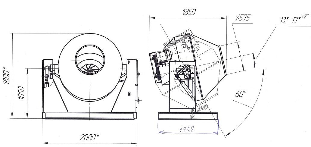 Схема гравитационной мешалки
