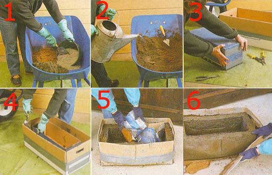Как сделать бетонную клумбу