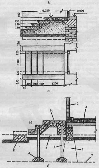 Крыльцо на подвижной ступени из бетона