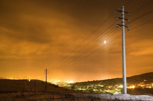 Линия электропередачи с использование железобетонных опор