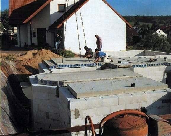 Межэтажные перекрытия из пустотелых бетонных плит