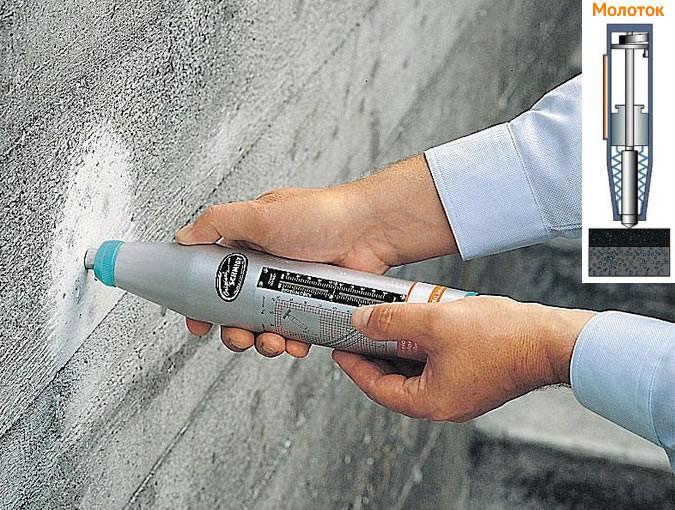 Определение прочности бетона методом «ударного отскока»