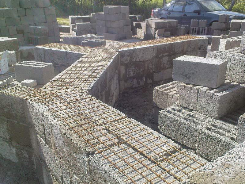 Армирование стен из пеноблоков