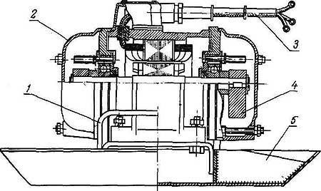 Схема поверхностного вибратора для бетона