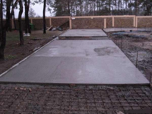 Дорога своими руками из бетона