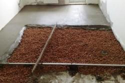 Заливка керамзита бетонной смесью