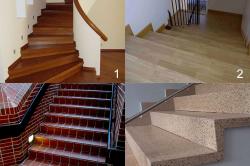 Варианты облицовки бетонной лестницы различными материалами