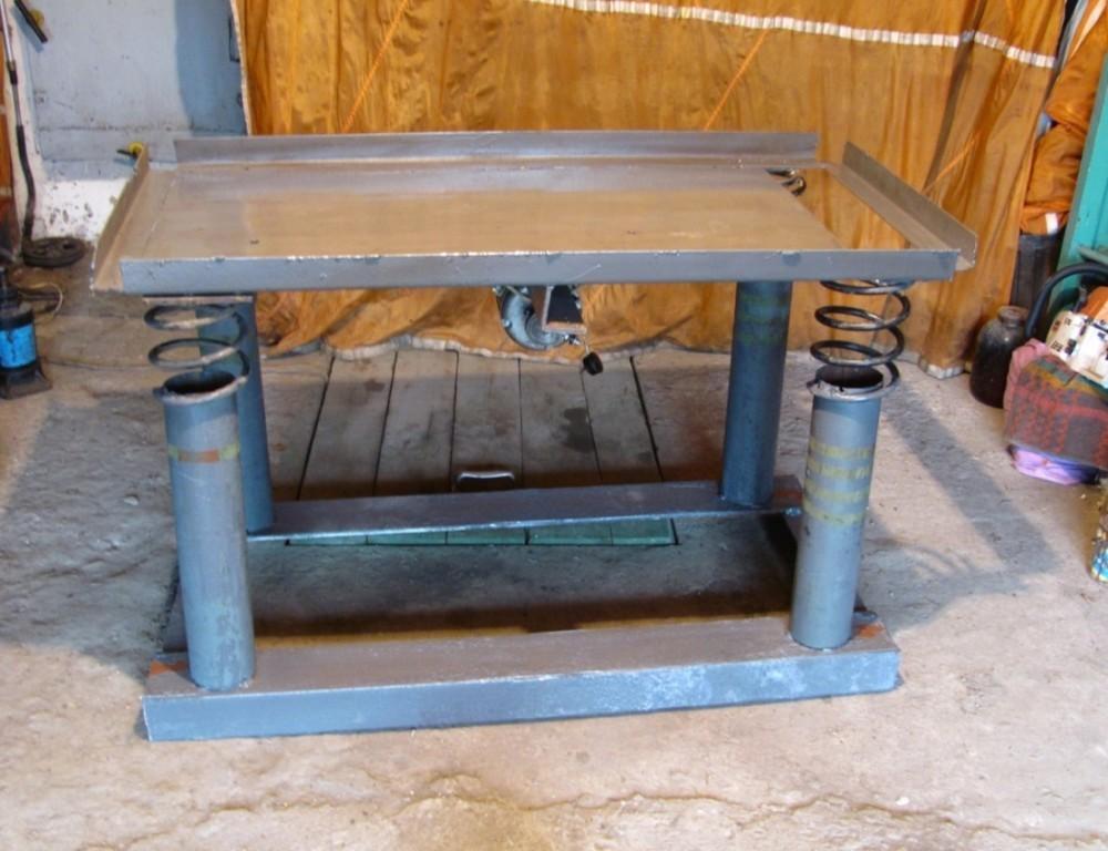 Как сделать вибростол для изготовления плитки