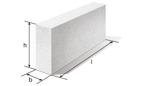 Схема пенобетонного блока