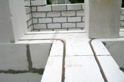 Армирование газобетонных блоков