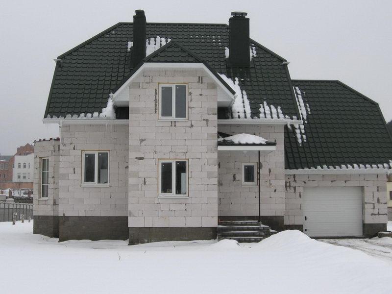 Дом из газоблоков