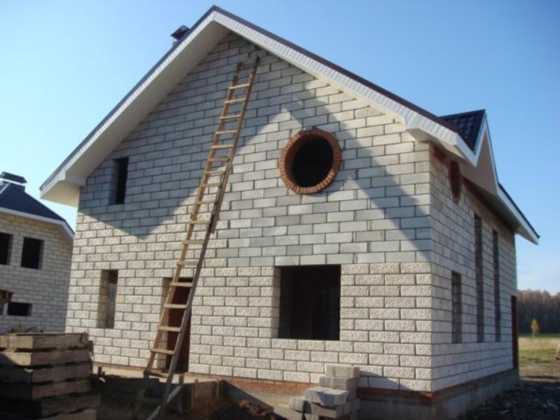 Дом построенный из пенобетона
