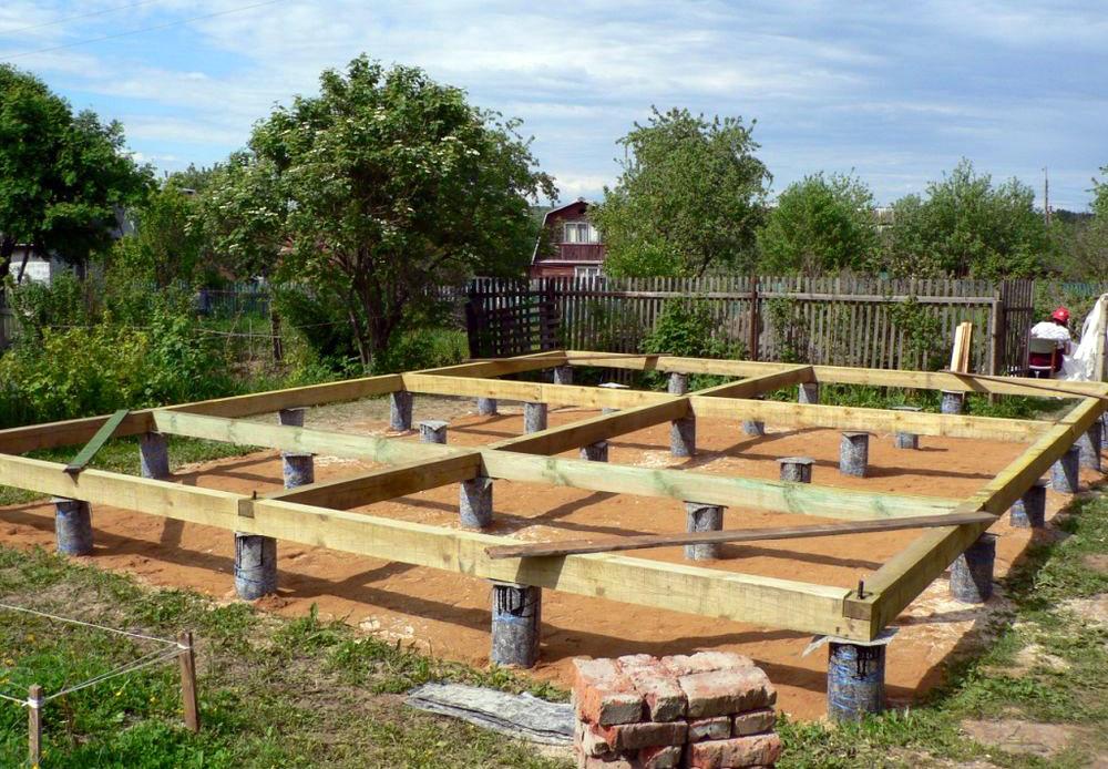 Одним из преимуществ каркасных домов является то, что нет необходимости возводить большие громоздкие фундаменты.