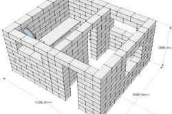 Схема возведения стен бани из газобетона
