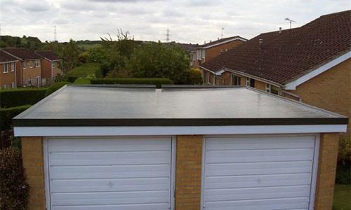 Гараж, с крышей из бетона