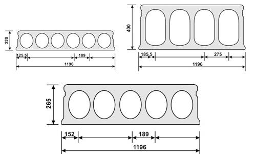 Схема размеров плиты перекрытия