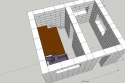 Схема строения из пеноблоков