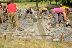 Строительство бетонной площадки своими руками