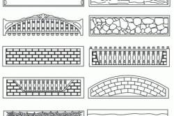 Элементы современных бетонных ограждений