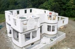 Строительство дома из газобетонных блоков.