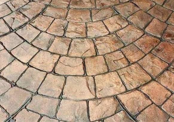 фото печатный бетон