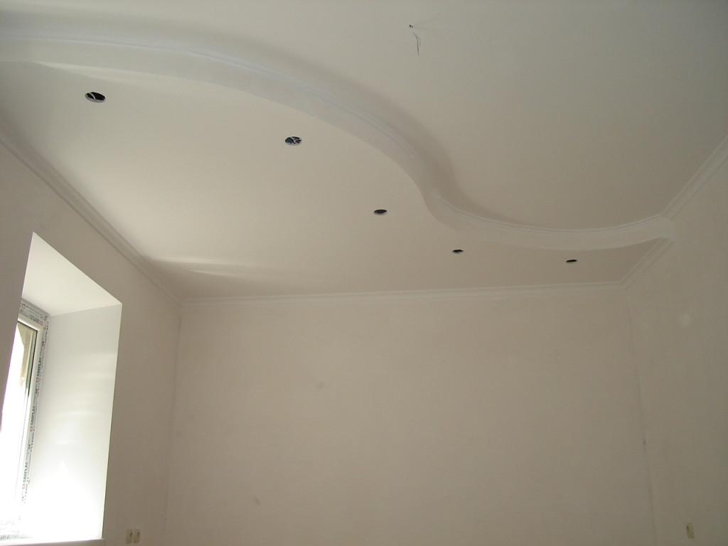 Оштукатуренные стены и потолок