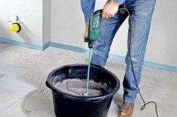 Приготовление цементного раствора
