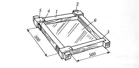 Схема опалубки для бетонной плиты
