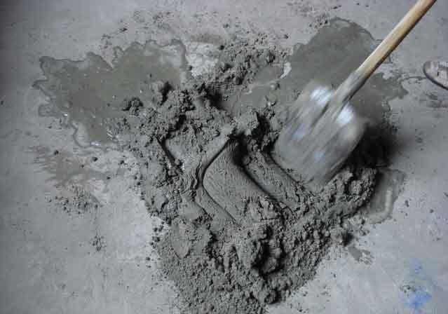 Где применяют цементный раствор?