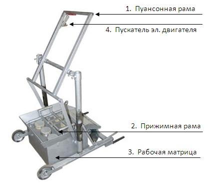 Устройство вибростанка для производства блоков.