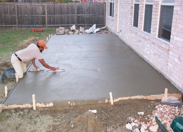 Укрепление основания из бетона