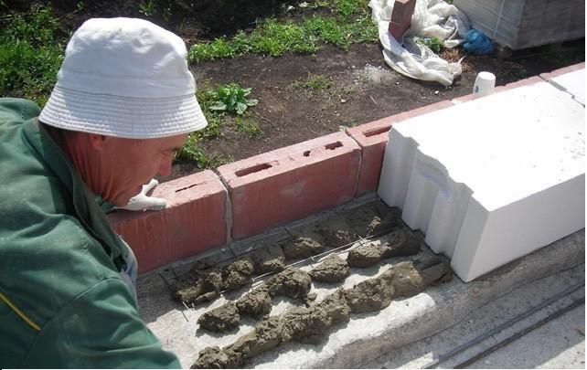 кладка блока на цемент