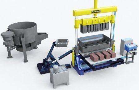 Для производства керамзитных блоков необходима бетономешалка и вибростанок.