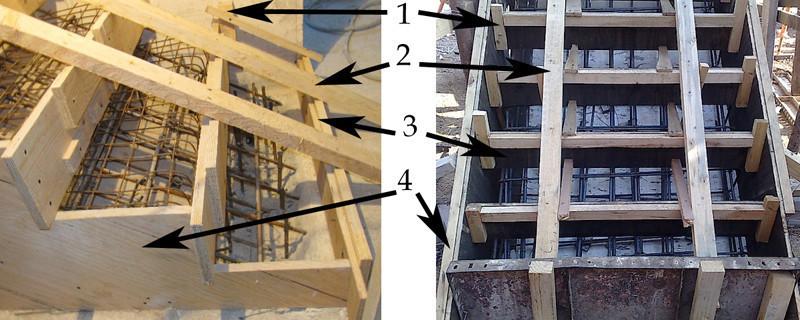 Элементы опалубки для лестницы