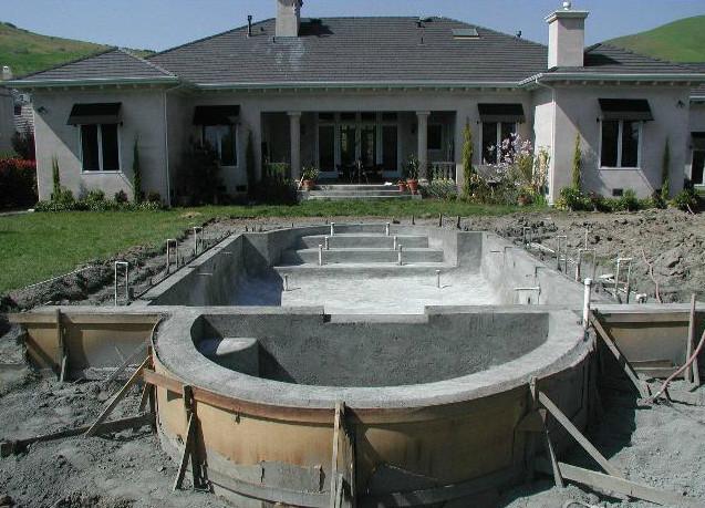 Изготовление бассейна из бетона своими руками
